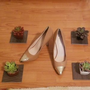 Restricted Gold Toe Heels